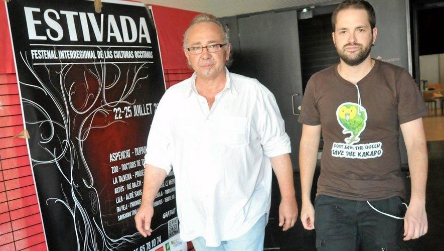 Patric Roux, le directeur de l'Estivada et son chargé de communication Denis Chadeuil.