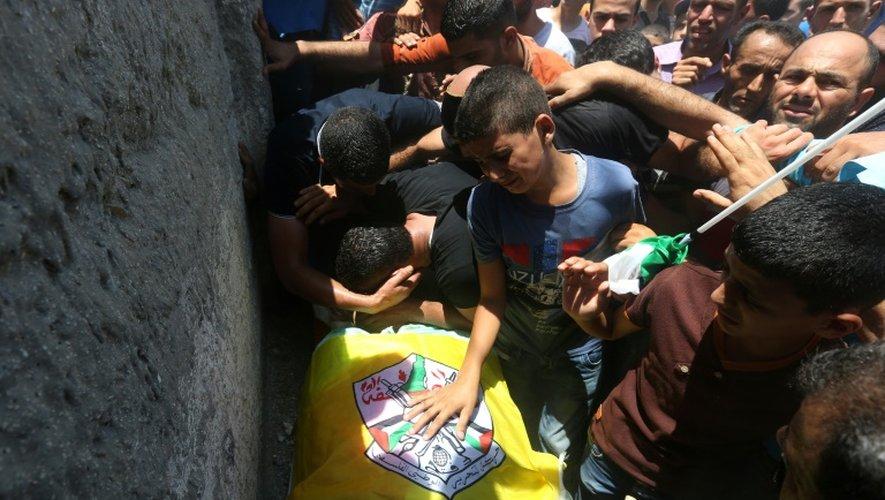 Funérailles d'un jeune Palestinien tué en Cisjordanie à Birqin, le 22 juillet 2015