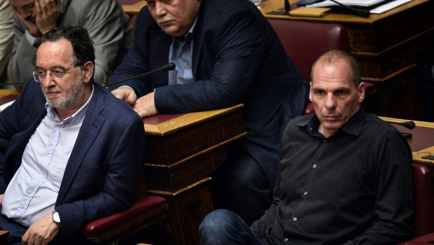 L'ancien ministre des Finances, Yanis Varoufakis, lors du vote le 24 juillet 2015 au parlement grec sur les nouvelles mesures d'austérité réclamées par les créanciers