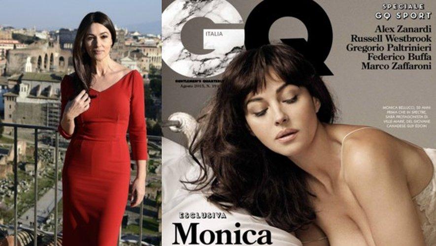 Monica Bellucci à Rome en février 2015 et pour le GQ Italie de août 2015