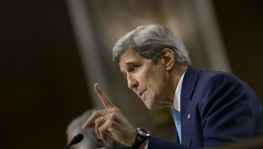 Le secrétaire d'Etat américain John Kerry défend le 23 juillet 2015 l'accord sur le nucléaire iranien au Congrès à Washington