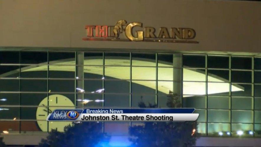 Capture d'écran de KLFY News du cinéma où un homme a ouvert le feu le 23 juillet 2015 à Lafayette en Louisiane