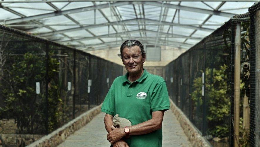 Jean-Jacques Lesueur, fondateur du zoo Spata près d'Athènes, le 23 juillet 2015