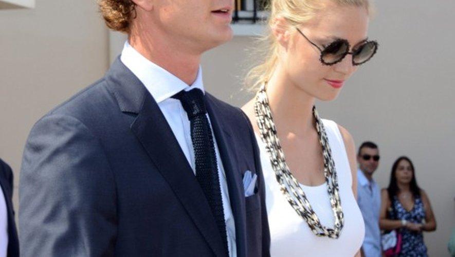 Les fiancés le 11 juillet 2015, au 10e anniversaire du règne du prince Albert