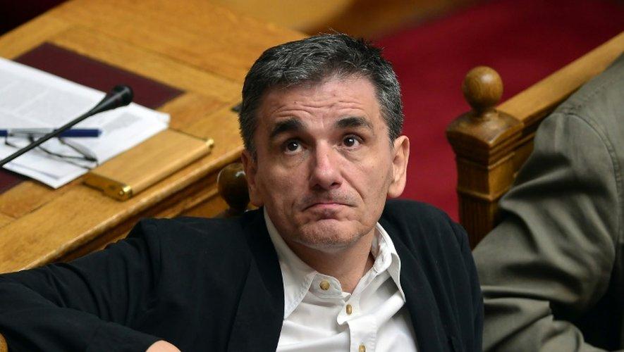 Le ministre des Finances grec, Euclide Tsakalotos, le 23 juillet 2015 au parlement grec