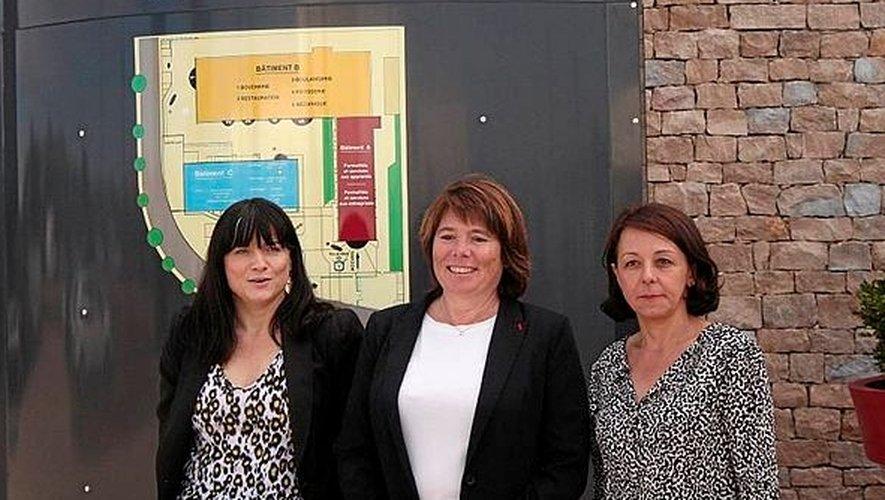 Christine Sahuet entourée de Nancy Destefanis-Dupin et de Stéphanie Dantes.