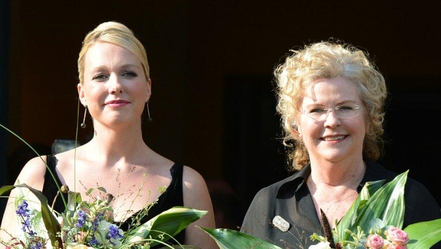 Katharina Wagner et Eva Wagner-Pasquier le 25 juillet 2012 à Bayreuth