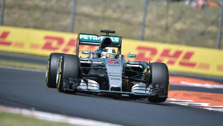La Mercedes du Britannique Lewis Hamilton lors du GP de Hongrie, le 26 juillet 2015 à Budapest