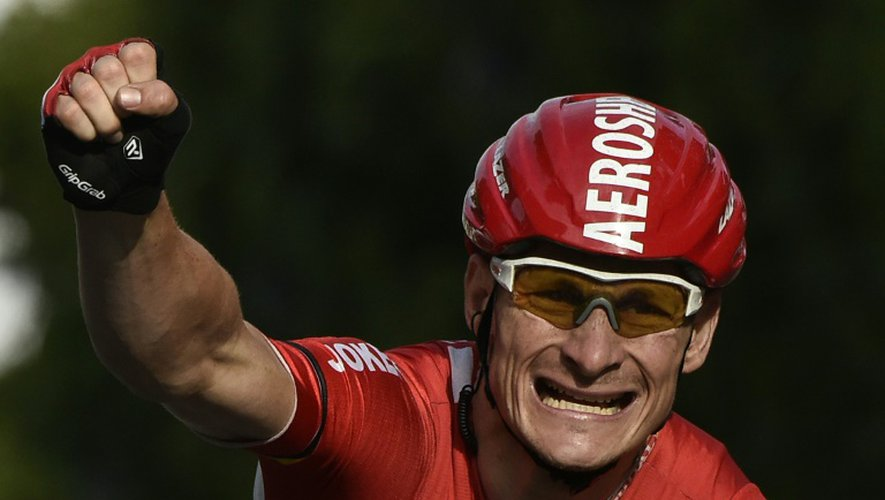 L'Allemand Andre Greipel, vainqueur de la dernière étape du Tour de France sur les Champs-Elysées, le 26 juillet 2015