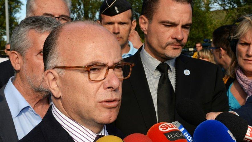 Le ministre de l'Intérieur Bernard Cazeneuve le 26 juillet 2015 à Saint-Jean-d'Illac