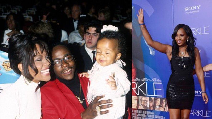 Bobbi Kristina bébé avec ses parents en 1994 et en 2012 à Hollywood