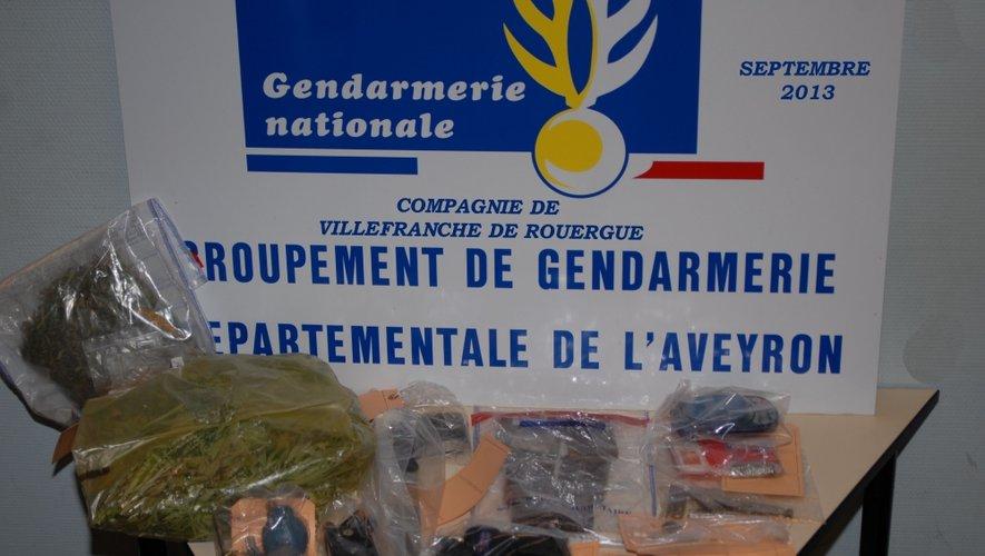 Aveyron : 2kg de cannabis saisis par les gendarmes