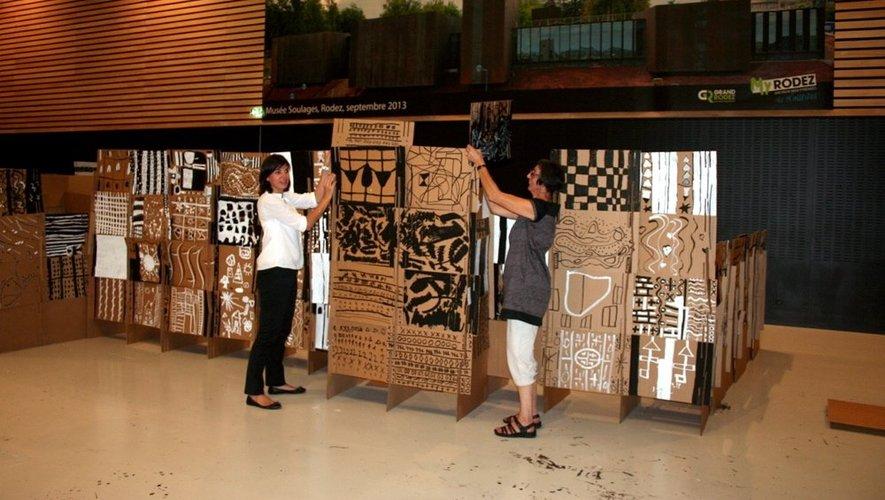 Les finitions seront réalisées par l'artiste plasticienne Joëlle Bazerque (à droite sur la photo).
