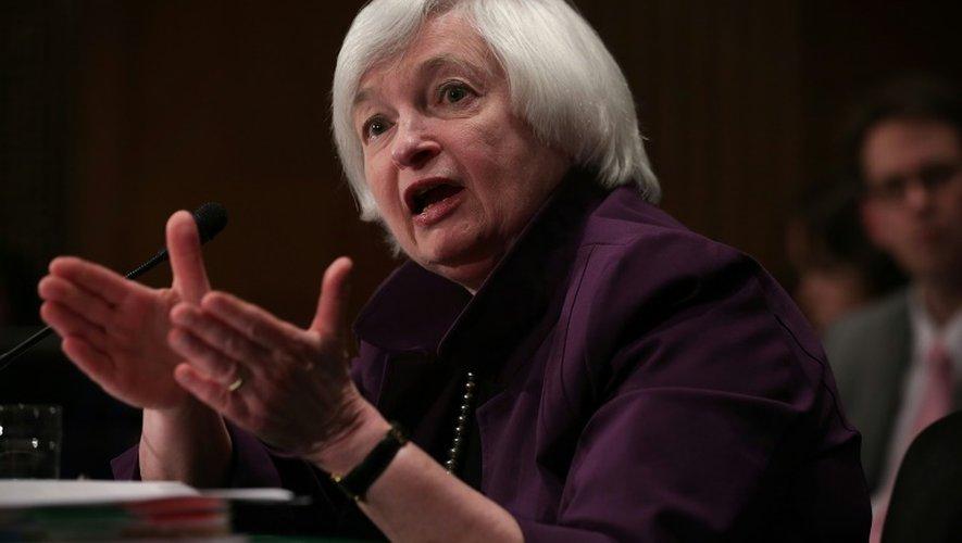 La présidente de la Fed, Janet Yellen, le 16 juillet 2015 à Washington