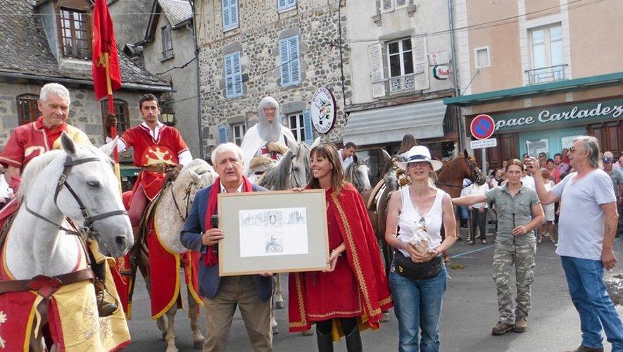 Echange symbolique de cadeaux à Mur-de-Barrez.