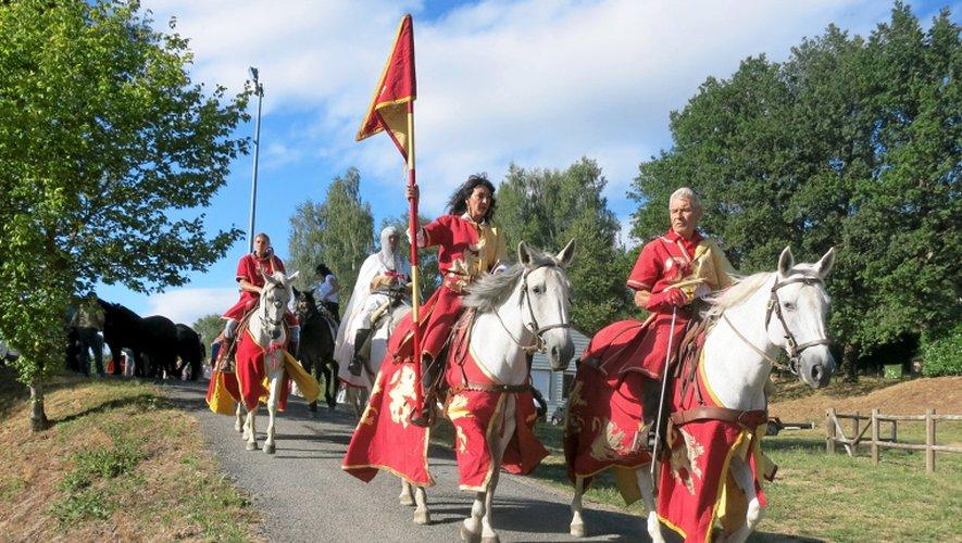 Pour la première fois, la Route du Sel sillonne les routes de l'Aubrac et du Carladez.