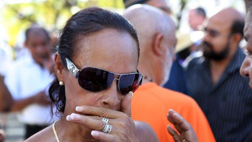 Anne-Marie Collomp, l'épouse de l'otage français Francis Collomp le 20 janvier 2013 au Port à La Réunion