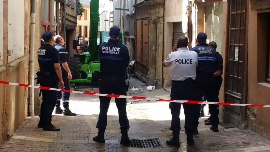 Le drame s'est produit ce matin au 15, rue de la Barrière à Rodez.