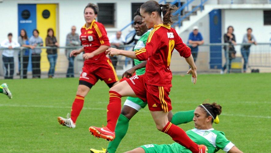 Les Ruthénoises en action, hier contre Henin-Beaumont