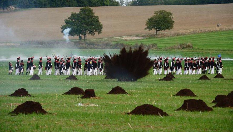 Reconstitution d'une bataille napoléonienne le 29 septembre 2013 à  Saint-Jean-les-Deux-Jumeaux