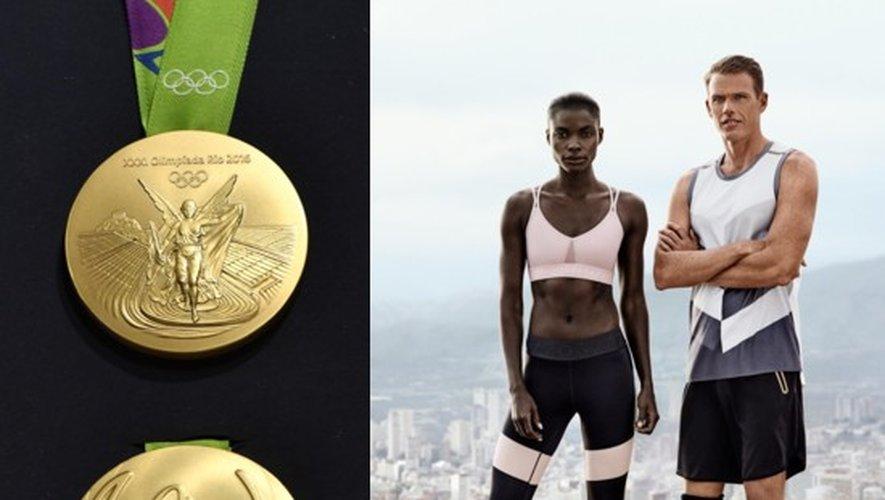 Les médailles d'or des JO de Rio et campagne H&M