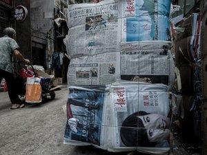 A Hong Kong, une armée de chariots poussés par des vieillards