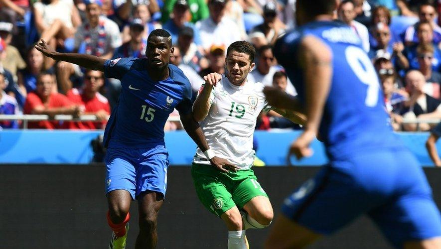 Euro-2016: la France menée 1 à 0 contre l'Eire à la mi-temps
