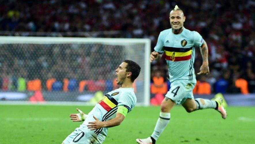 Eden Hazard, buteur et passeur décisif avec la Belgique contre la Hongrie au Stadium de Toulouse, le 26 juin 2016