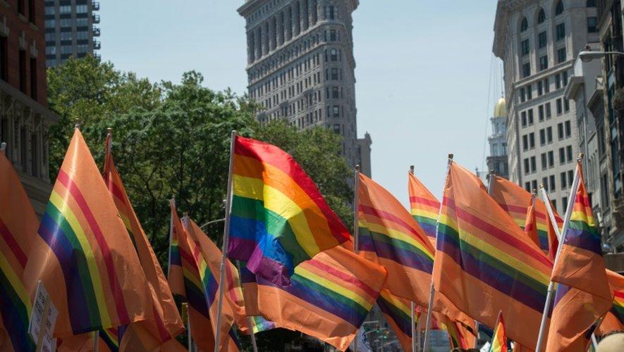 Des participants à la 46e Gay Pride de New York, le 26 juin 2016