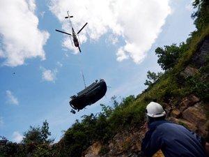 Salles-la-Source : une voiture accidentée hélitreuillée
