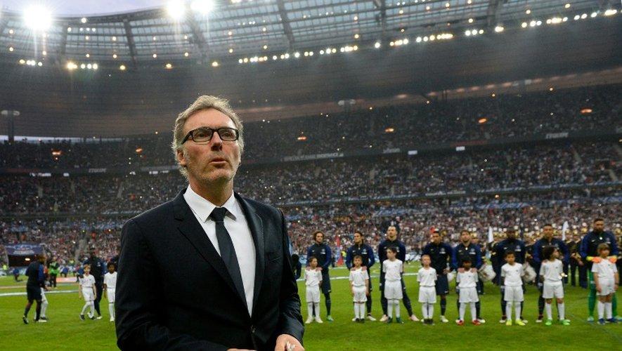 Laurent Blanc, alors entraîneur du PSG, avant le coup d'envoi de la finale de la Coupe de France face à Marseille au Stade de France, le 21 mai 2016