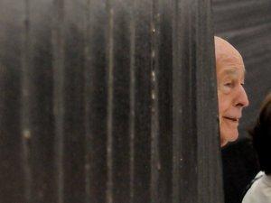 Valéry Giscard d'Estaing en visite au musée Soulages