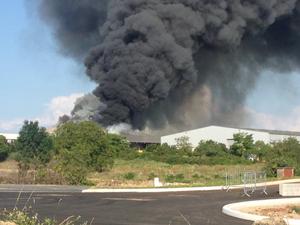 Important incendie chez Braley à Bozouls