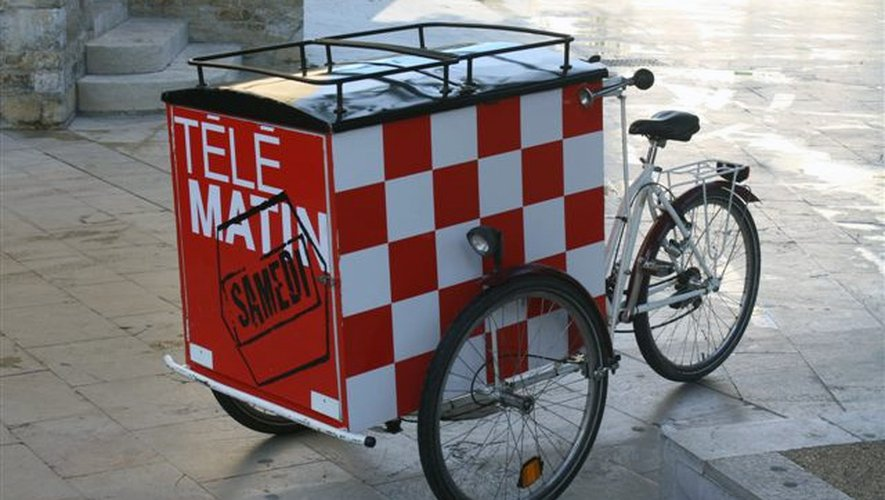 Le triporteur de Télématin sera sur le marché de Rodez, samedi 26 juillet.