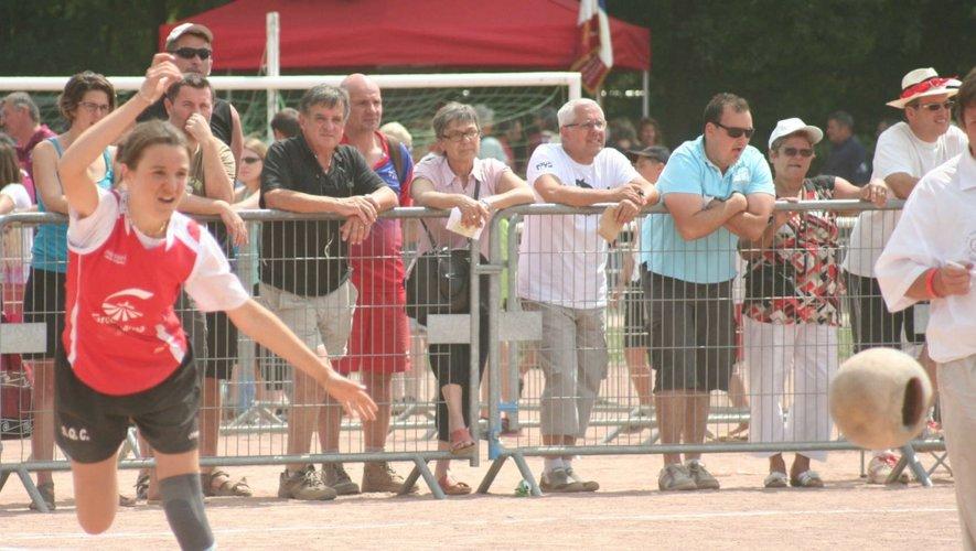 Mélanie Foucras (Colombiès) en tête avant la dernière partie.