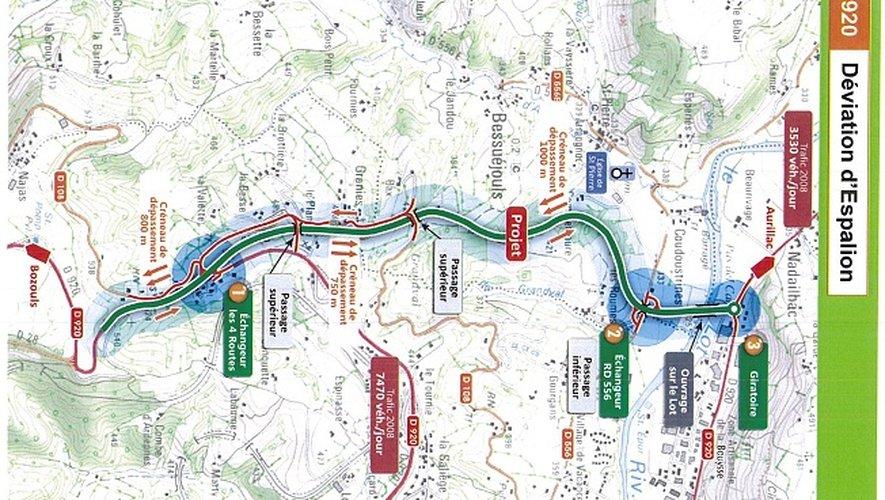 A l'horizon fin 2017, le trafic routier sera détourné de la ville d'Espalion.