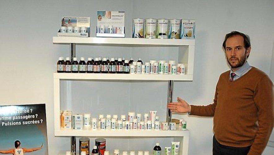 """Antoine Lagarde, directeur général du laboratoire Nutergia, s'installe pour """"assumer la responsabilité sociétale"""" des emplois dans la région."""