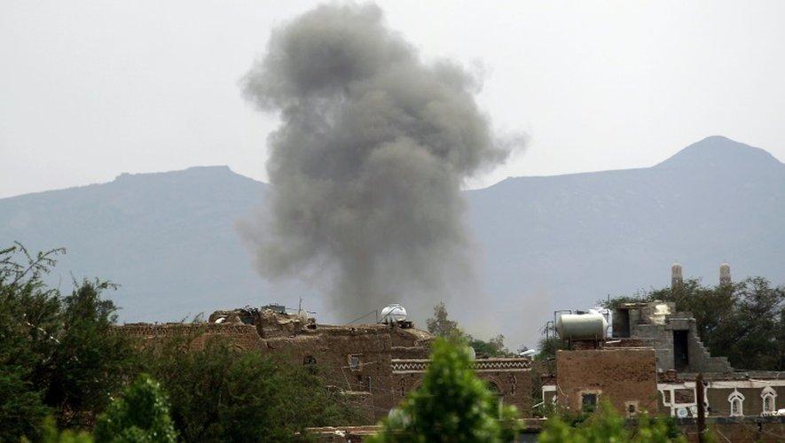 Frappe de la coalition arabe sur Sanaa au Yémen, le 2 septembre 2015
