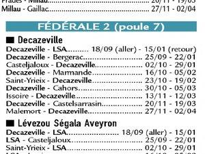 Un derby aveyronnais et un Rodez-Agde pour débuter