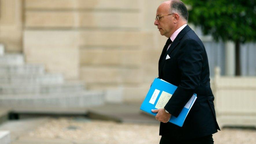Le ministre de l'Intérieur Bernard Cazeneuve, le 16 juillet 2016 à l'Elysée
