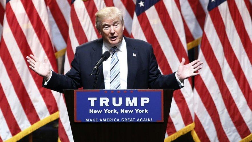 Le candidat républicain à la Maison Blanche, Donald Trump, le 16 juillet 2016 à New York