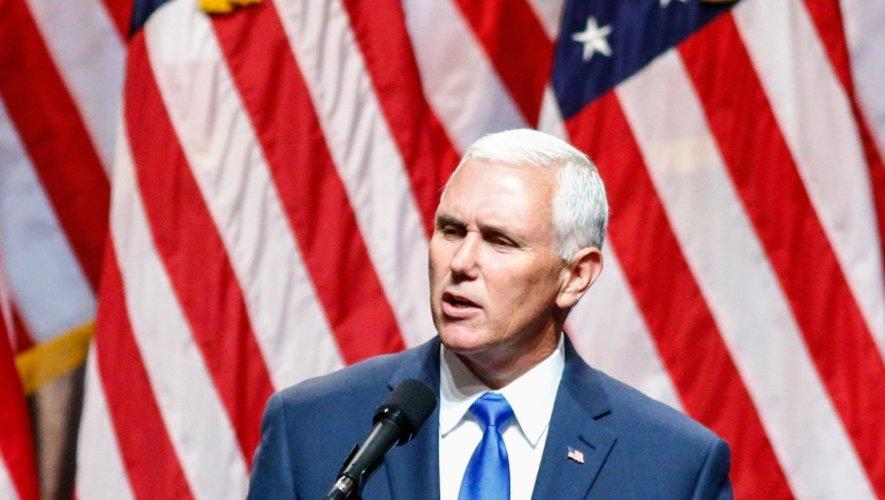 Le candidat républicain à la vice-présidence des Etats-Unis, Mike Pence, colistier du candidat à la Maison Blanche Donald Trump, le 16 juillet 2016 à New York