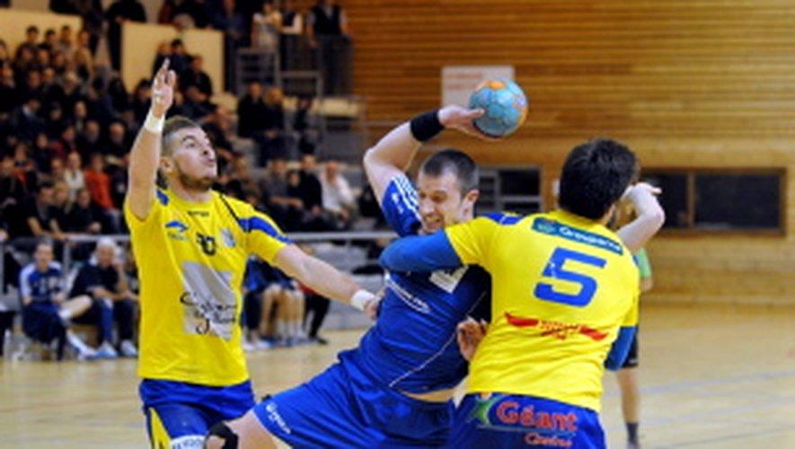 Soirée difficile, à domicile,  pour les joueurs du ROC Handball.
