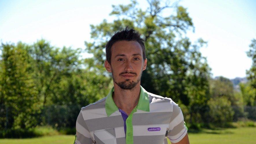 L'Ariégeois Guillaume Dedieu (25 ans) est en poste au golf du Grand Rodez depuis le début du mois.