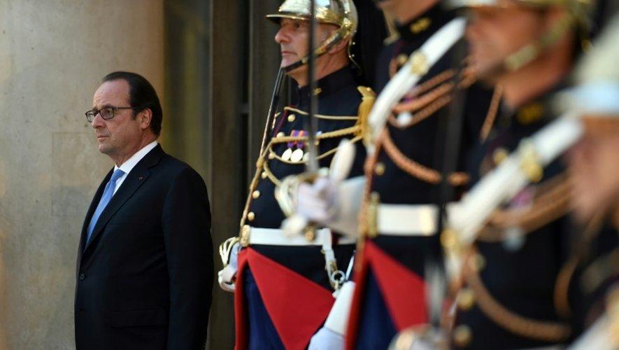 Le président François Hollande, le 21 juillet 2016 à l'Elysée
