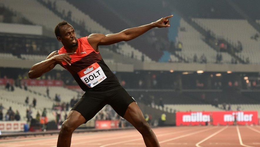 Le Jamaïcain Usain Bolt après sa victoire lors du 200 m du meeting de Londres, le 22 juillet 2016