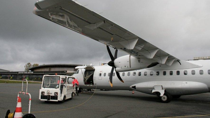 Après deux rotations dans la journée entre Rodez et la capitale. L'ATR 700