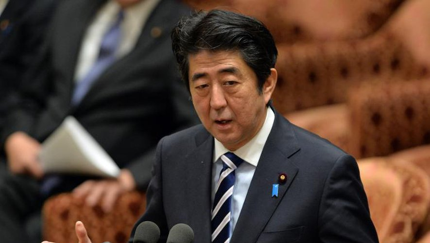 Le Premier ministre japonais Shinzo Abe, à la chambre basse de la Diète, le 26 novembre 2013 à Tokyo
