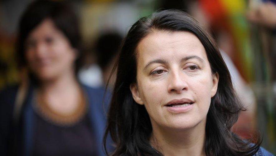 """Cecile Duflot à Notre-Dame des Landes le 5 juillet 2014: L'ancienne ministre est l'auteur du livre """"De l'intérieur, voyage au pays de la désillusion"""" à paraitre le 25 aout 2014"""
