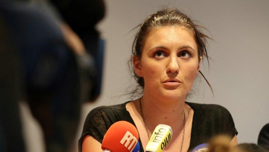 La policière municipale, Sandra Bertin donne une conférence de presse, le 24 juillet 2016 à Nice
